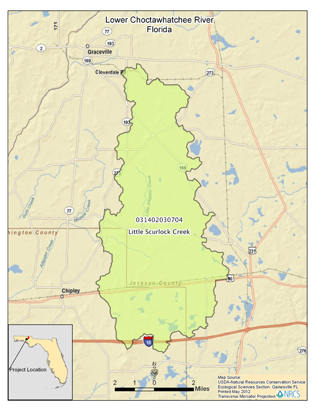 Florida Watershed Map.National Water Quality Initiative Nrcs Florida