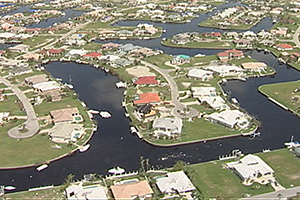 Aerial view of Punta Gorda