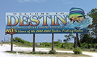 Sign for City of Destin