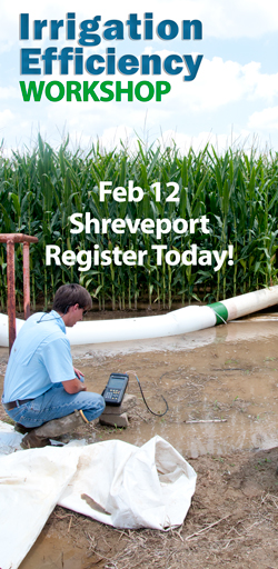 -Shreveport - Register Today!  Photo:  Irrigation monitoring in corn field.