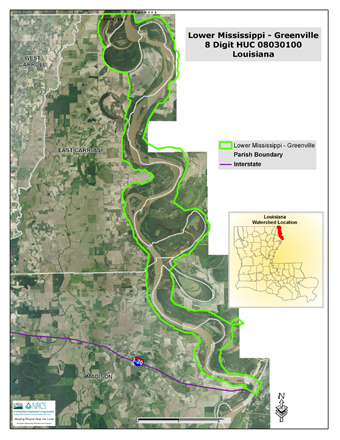 Lower Mississippi-Greenville Watershed Map (PDF; 3.7 MB)