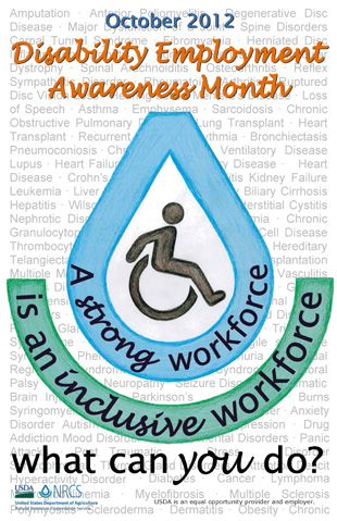 2012 Disability Employment Awareness Poster (PDF; 280 KB)