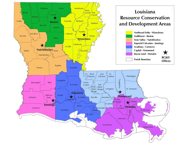 Resource Conservation and Development Program NRCS Louisiana