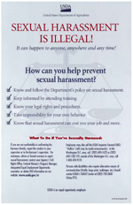 Sexual Harassment is Illegal Poster