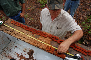 NRCS soil scientist classifies a soil profile