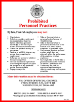 Prohibited Personnel Practices Poster