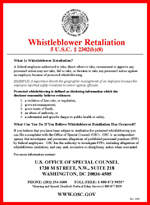 Whistleblower Retaliation poster