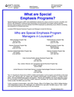 Louisiana Special Emphasis Program Managers List (PDF; 22 KB)
