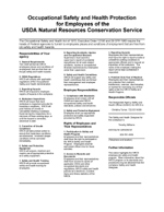 Occupational Safety and Health Protection for USDA Employees Poster