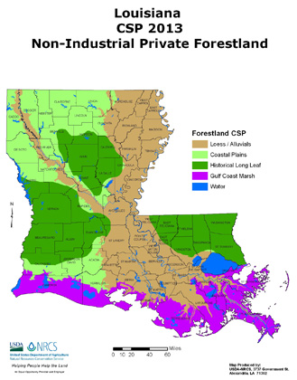 2013 CSP Non-Industrial Private Forestland Map (PDF; 1.1 MB)