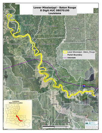 Lower Mississippi-Baton Rouge Watershed Map (PDF; 5.0 MB)