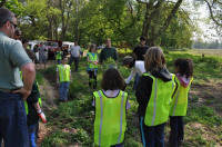 Take Your Child to Work Day - trees planted in flood plain
