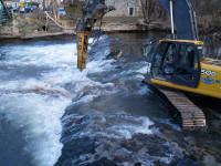 excavator in Musconetcong at Finesville