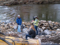 restoration project being documented by US Fish and Wildlife