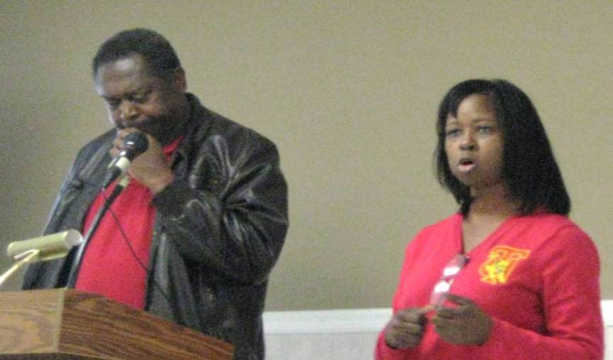 (l-r) Miles Robinson and Audrey Zeigler, Tuskegee University Small Farms Coordinators.