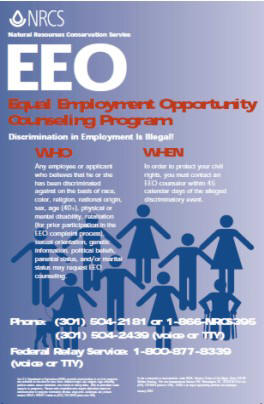 NRCS EEO Counseling Program Poster