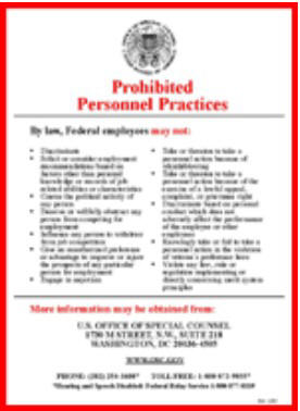 Prhibited Personnel Practices Poster