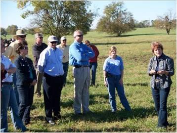 Attendees view Conservation practices.