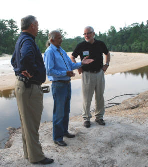 NRCS officials and PBCI Tribal Elder visits Magnolia Branch.