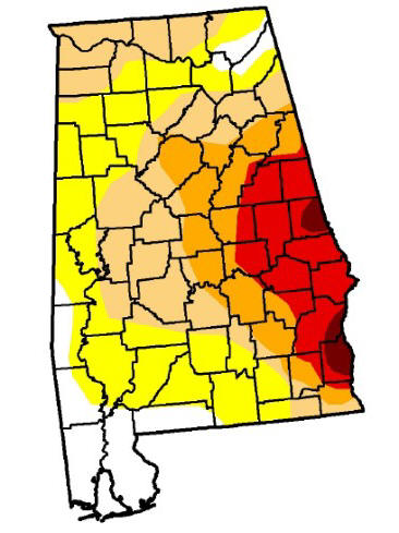 Click for map of drought counties