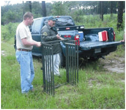 Experts discuss wildlife traps.