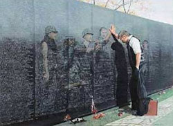 Veteran's reflections at Viet Nam memorial