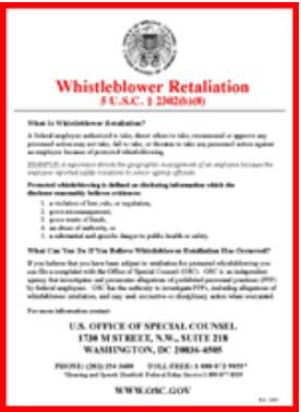 Whistleblower Retaliation