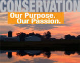 Conservation... Our Purpose. Our Passion. Image: Farm at sunset.
