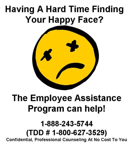 EAP Poster - Having a hard time finding your happy face?