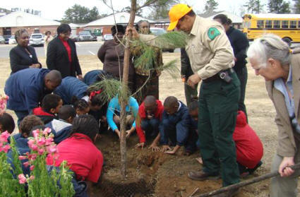 Tree Planting in Pritchard.