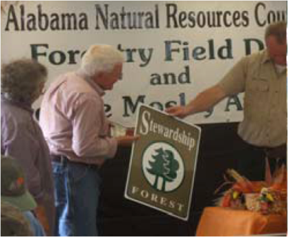 Producers were recognized for their stewardship of Alabama's forests.
