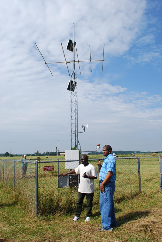 Climate station at Alabama A&M.