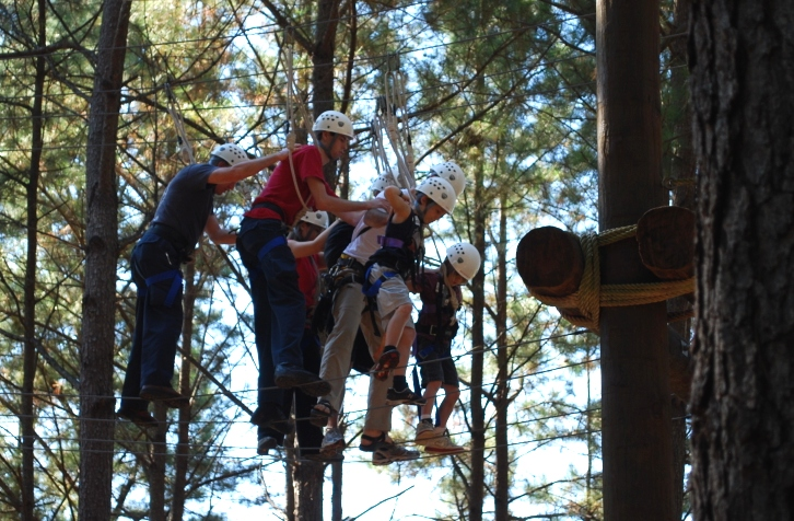 High ropes course.