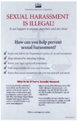 Poster-Sexual Harassment is Illegal