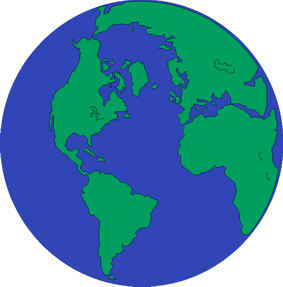blue and green globe of the earth.