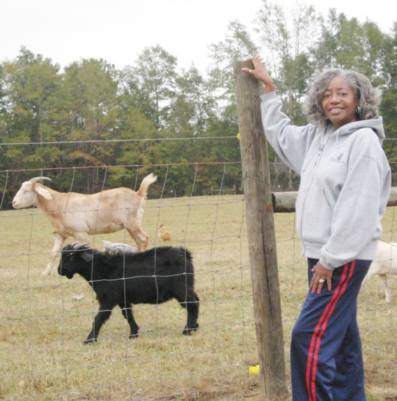 The Beans  raise goats on S&B Farm.