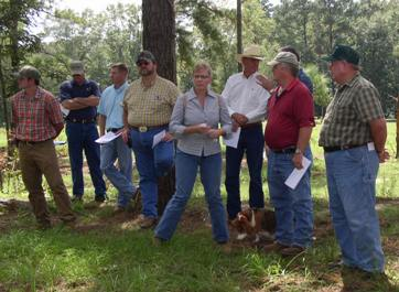 Landowners attend Silvopasture Field Day in Dale County.