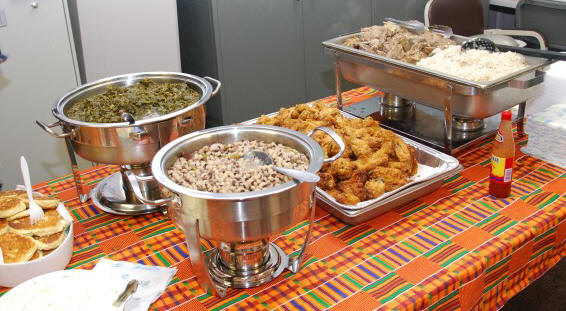 Food at Black History Month.