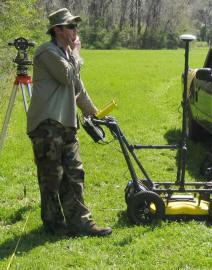 Ground penetrating radar (GPR) used to determine if there were intact subsurface features.