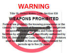weapons prohibited - english