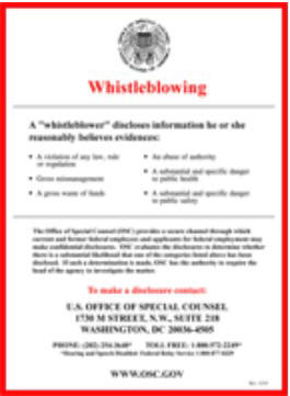 Whistleblowing poster