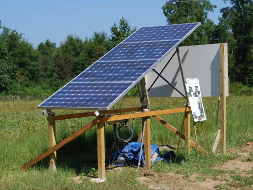 Solar panels on Simone property.