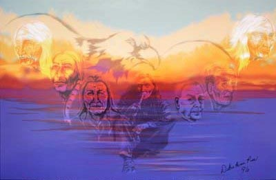 Seven Generations painted by Michigan Native American artist