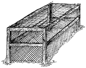 Figure 1. Framed goose-protection structure