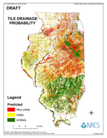 Tile Drainage Predicition Map of Illinois
