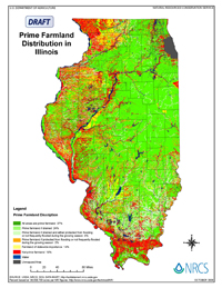 Draft Map of Prime Farmland Distribution in Illinois
