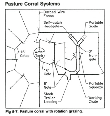 Diagram Of Pasture Corral With Rotational Grazing