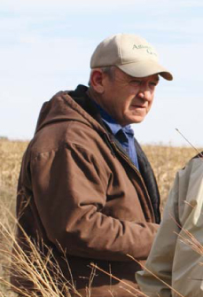 Larry Schaefer believes in conservation on the farm.