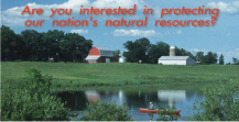 Photo of farmland - Are you interested in protecting our nation's natural resources?