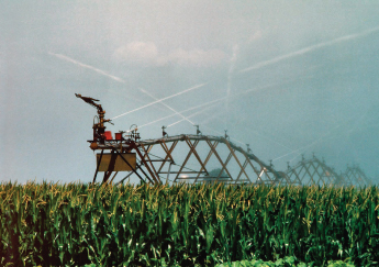 Irrigation system in corn field